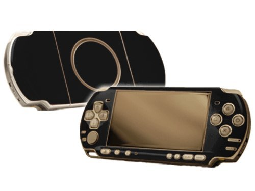 Sony PlayStation Portable 3000 (PSP-3000) Skin - NEW - MATTE BLACK system skins faceplate decal mod
