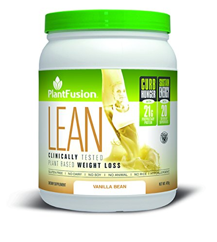 PlantFusion Lean, Clinically Tested Weight Loss Protein Powder, Vanilla Bean, No Soy or Rice, 21g Protein, 20 servings, 14.8oz Tub