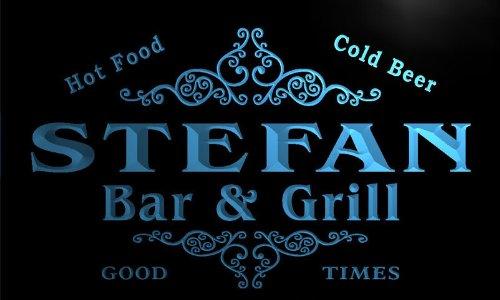 u43034-b STEFAN Family Name Bar & Grill Home Decor Neon Light Sign Barlicht Neonlicht Lichtwerbung