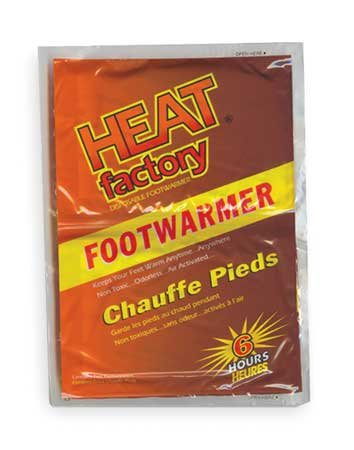 - Foot Warmer, Up to 6 hr. Heating Time, Activates By Contact with Air, Pack of 5