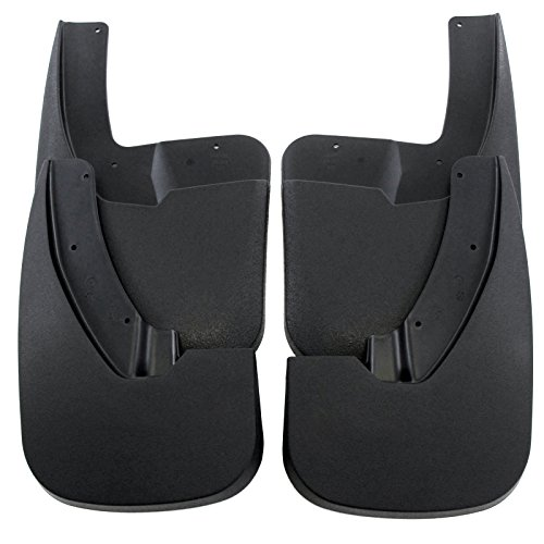 Premium Heavy Duty Molded 2009-2017 Dodge Ram (WITH OEM Fender Flares) Splash Mud Flaps Guards Front Rear 4 piece Set (2011 Ram Fender Flares compare prices)