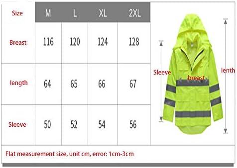 Zjcpow Uomini e Donne Giacche Impermeabili Impermeabile Riflettente Sicurezza Stradale Segnalazione di Sicurezza Impermeabile per Esterni Impermeabile per Adulti (Size : XL)