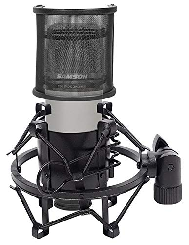 (Samson C01 Studio Recording Microphone+Curved Pop Filter Windscreen+Shock Mount)