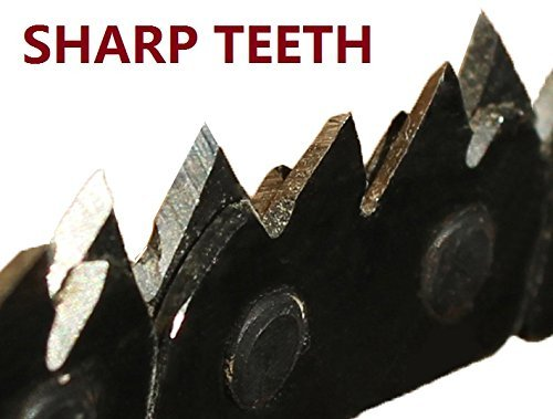 SHARPEST! Survival Pocket Hand Chainsaw EAT WOOD 3 TIMES FASTER!!! With SUPER Sharp Blade! Chain Saw Gear + Built to last! Made of Highest Quality Steel + with pouch - Trimming trees NEVER BEEN EASIER + Special Guarantee To You!