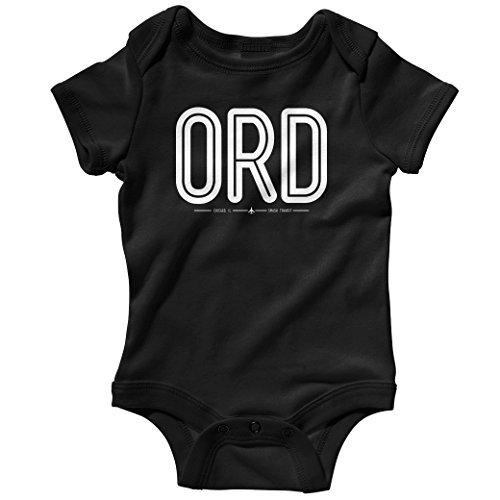 Smash Transit Baby ORD Chicago O'Hare Airport Creeper - Black, 12M