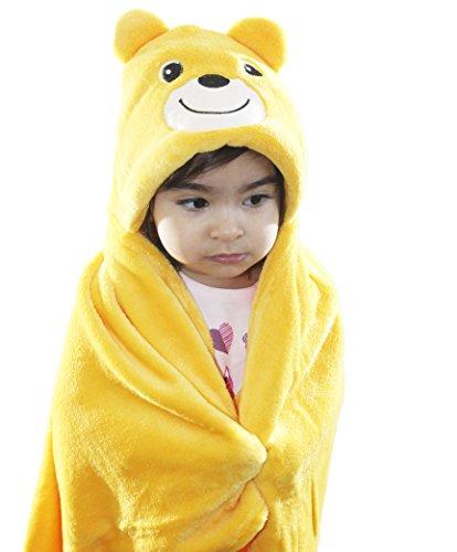 Zoopurr Pets Baby Boys' or Baby Girls' Hooded Animal Blanket; Super Soft, Huggable Plush Hoodie Blanket (Teddy Bear) by ZoopurrPets (Image #1)
