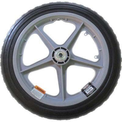 Ironton 16in. Solid Rubber Spoked Poly Wheel