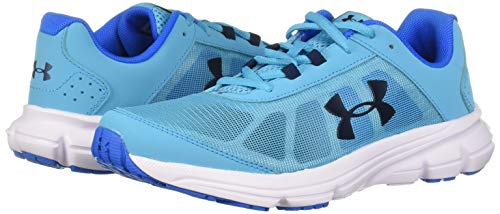 Under Armour Girls' Grade School Rave 2 Sneaker Alpine (301)/Blue Circuit 3.5 by Under Armour (Image #6)
