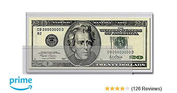 Hard Plastic Holder for Small or Large Paper Currency Notes