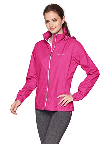 - Columbia Women's Switchback III Adjustable Waterproof Rain Jacket, Fuchsia, Medium