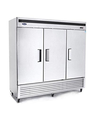 Atosa Freezer: 82-in Bottom Mount 3-Dr S/S Freezer w/4'' Castors by Atosa