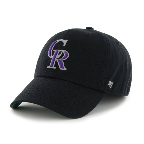 (MLB Colorado Rockies '47 Franchise Fitted Hat, Black, Large)