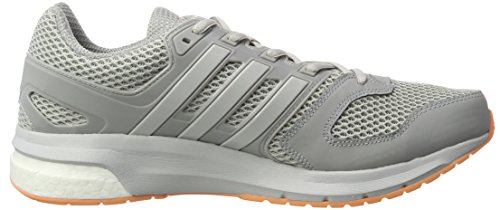 adidas Questar, Chaussures de Running Compétition Femme Gris (Mid Grey/Lgh Solid Grey/Easy Orange)