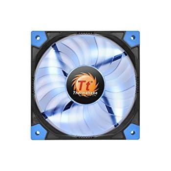 Thermaltake Luna 12 120mm Slim Series LED 15mm Width Quiet High Airflow Case Cooling Fan CL-F035-PL12BU-A Blue