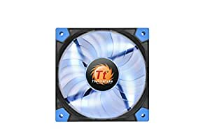 Thermaltake Luna 12 120mm Slim Series LED 15mm Width Quiet High Airflow Case Cooling Fan CL-F035-PL12BU-A Blue