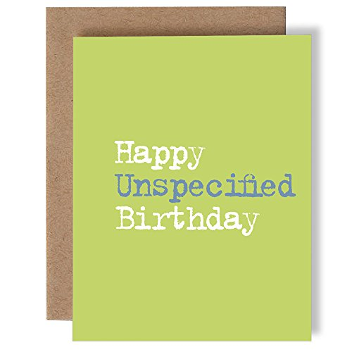 Happy Unspecified Birthday - Happy Birthday - Greeting Card by Skel Design