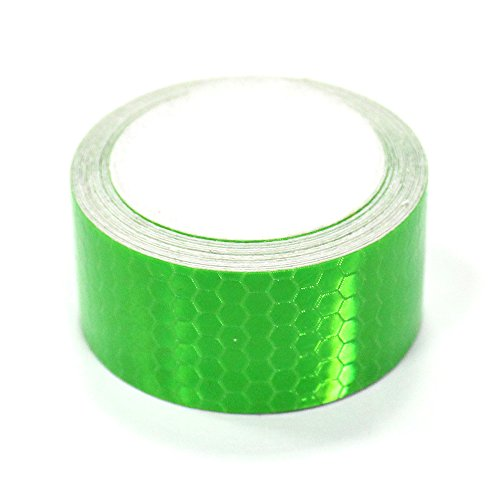 Autotoper Reflective Tape Green 2″X9.8′ for Trucks Trailers Car Park Traffic Warning Caution Conspicuity Tape Waterproof Self-Adhesive Reflector Tape-Reflective Tape 1 PCS
