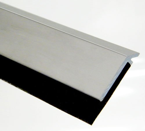 Pemko 085641 315CN42 Door Bottom Sweep, clear Anodized Aluminum with Black Insert, 0.25'' width, 42'' Length, Aluminum