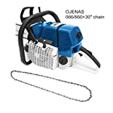 OJENAS Gasoline-Powered MS 066/660 Chain Saw 2 Stroke 92cc 5.2KW with 30-Inch 3/8″.063″ Chain ONLY MS 066 660 Big Tree Wood Cutting New