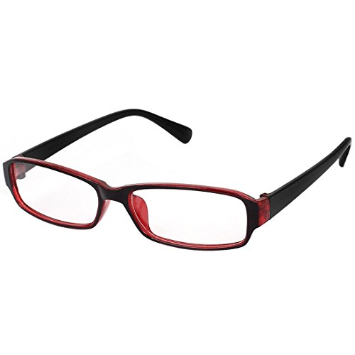 uxcell Plastic Lady Eyeglasses Frame Full Rims Lens Plain Glasses Spectacles Black - Spectacles Glass Plain
