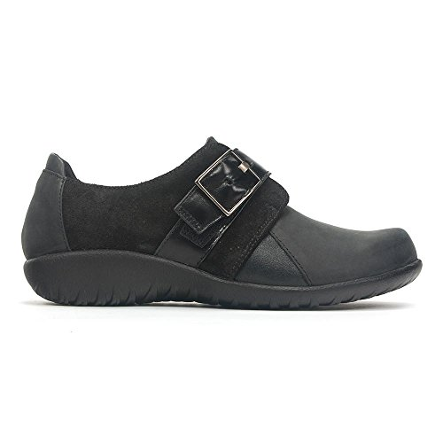 Suede Jane Coal Women's Madras Mary Black Tane Naot Oily Flat wRUBnq