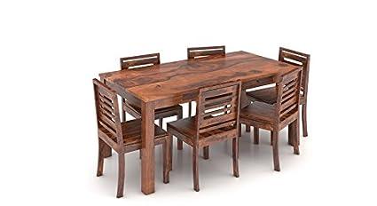 0cd7c19a09cd3 Urban Ladder Arabia FNDNTKTKC084003 Six Seater Dining Table Set (Teak  Finish