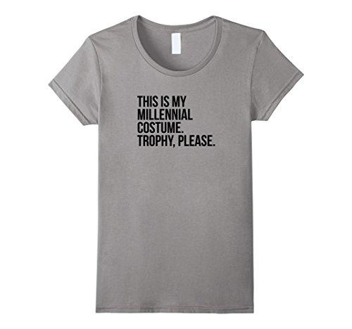 Womens Funny Millennial Costume contest halloween shirt joke gift Medium (Halloween Costumes Hipster)