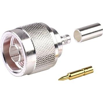N macho coaxial Conector Lot de 50 piezas para lmr-195 RG-58 rg
