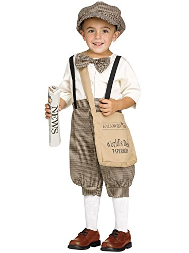 Retro Newsboy / Paper Boy Toddler Costume