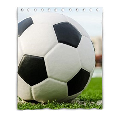 soccer ball sport facility Blackout Window Curtain Polyester