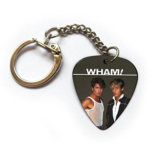 George Michael Wham Costume (GEORGE MICHAEL WHAM ANDREW RIDGELEY Guitar pick plectrum Jewellery & Accessories(Keyring))
