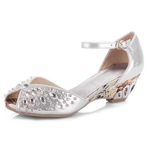eleganti donna argento in da 1to9 Sandali Fwqx1B