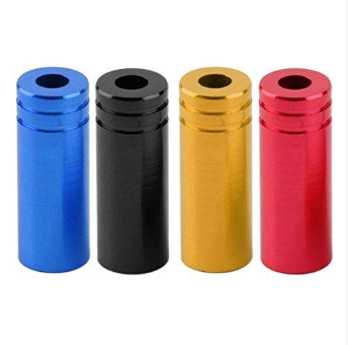 End Housing (4mm Aluminum Alloy Bike Derailleur Shifter Cable Housing End Caps Ferrules,4 Colors, 10pcs /bag (Black))