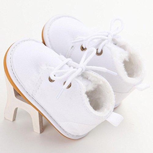 Baby Lauflernschuhe-Omiky® Jungen/Mädchen Lauflernschuhe Krabbelschuhe Babyschuhe in verschiedenen Farben Gummisohle Weiß