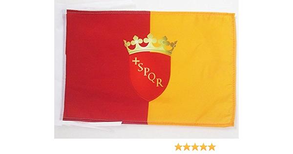 AZ FLAG Bandera de la Ciudad DE Roma con Armas 45x30cm - BANDERINA DE Roma 30 x 45 cm cordeles: Amazon.es: Hogar