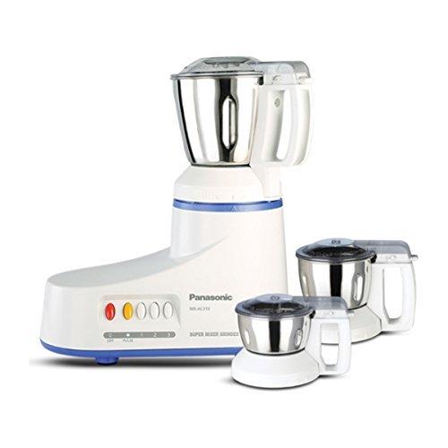 Panasonic MX-AC310-H 550-Watt 3-Jar Super Mixer Grinder (White)