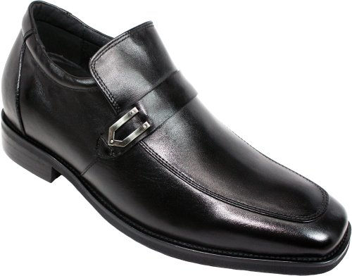 CALTO - G5828 - 3 Inches Taller - Height Increasing Leather Elevator Shoes-Black Leather Increasing Slip-on Dress Shoes B00DDB73S0 Shoes 00190f