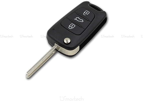 Carcasaschulas Schlüsselgehäuse Für Hyundai I20 I30 I35 Ix20 Ix35 Key H 4 Für Hyundai Ix30 Ix35 Mit 3 Tasten Und Klappbarem Schlüsselbart Kia Ceed Kia Rio Kia Picanto Bekleidung