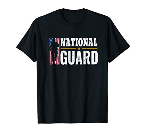 National Guard American Flag Proud Patriotic Gift - Shirts Guard National Army