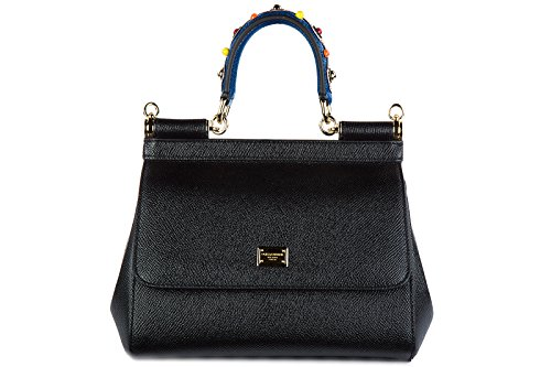 Dolce&Gabbana women's leather handbag shopping bag purse sicily dauphine - Dolce Gabbana Handbags 2014 And