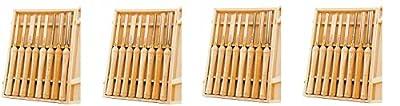 PSI Woodworking LCHSS8 HSS Wood Lathe Chisel Set, 8-Piece