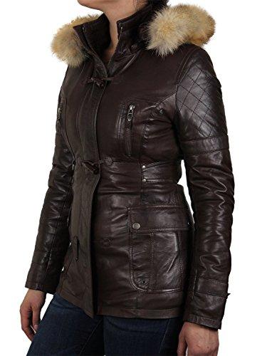 Femmes Luxe Brandslock Jacket Raton Marron Motard Laveur Fourrure De T5dPaqd