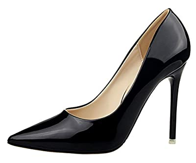 T&Mates Womens Sexy Pointy Toe Stiletto Pumps Slip-on Dress High Heels Basic Shoes for Party Wedding