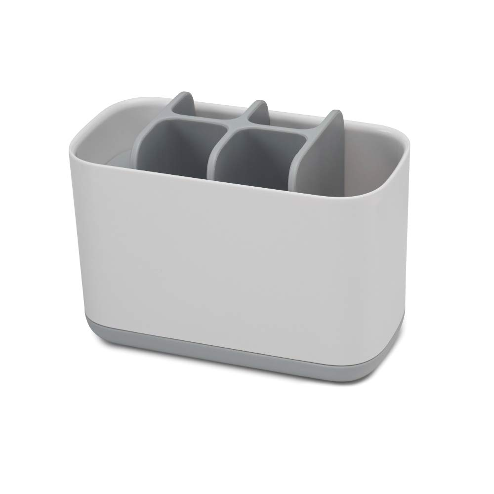 Joseph Joseph 70510 EasyStore Toothbrush Holder Bathroom Storage Organizer Caddy, Large, Gray by Joseph Joseph