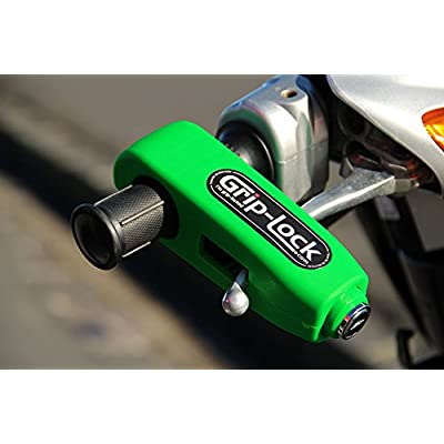 Grip-Lock – The original and genuine Motorcycle and Scooter Security Lock - Bright Green: Automotive