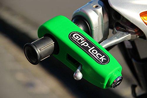 (グリップロック)Grip-Lock オートバイとスクーター用セキュリティロック Twist grip sizes from 27-38mm グリーン GL-BrightGreen B01DBHLW9Q  ブライトグリーン
