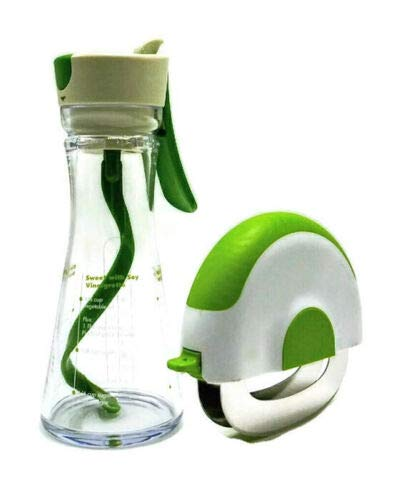 Salad Dressing Container Mixer and Salad and Herb Chopper Bundle