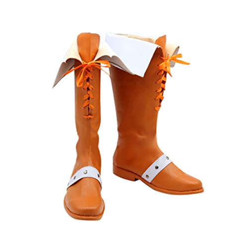 DUNHAO COS Anime The Seven Deadly Sins Diane Orange Cosplay Custom Shoes Boots Custom Made -