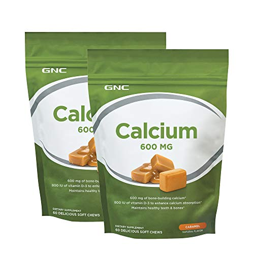 - GNC Calcium 600 MG - Caramel - Twin Pack