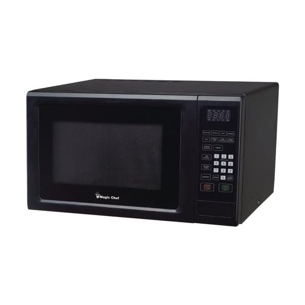 MAGIC CHEF MCM1110B 1.1 Cubic-ft, 1,000-Watt Microwave with Digital Touch (Black) 1